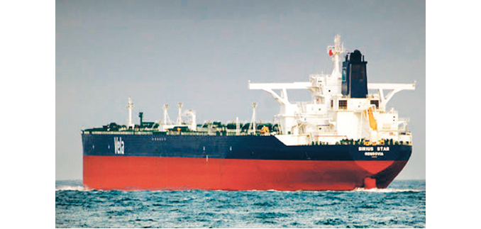 Vessels stranded with 125,500 tons of petroleum products