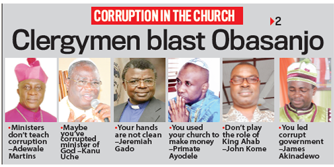Clergymen blast OBJ: You led a corrupt govt