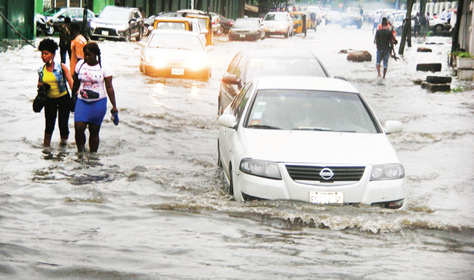 Commuters stranded as flood takes over Lagos