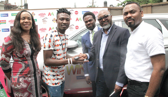 Big Brother Naija winner, Efe, presented SUV
