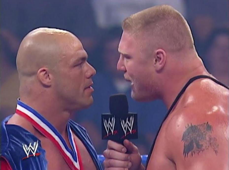 WWE legend Kurt Angle reveals how he dropped Brock Lesnar
