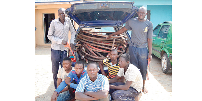 Police arrest 8 suspected car, cable thieves