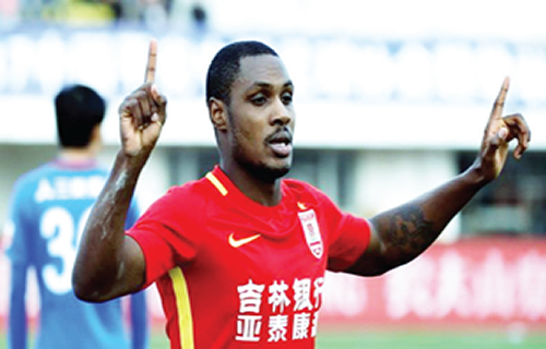 Ighalo scores as Chinese League resumes