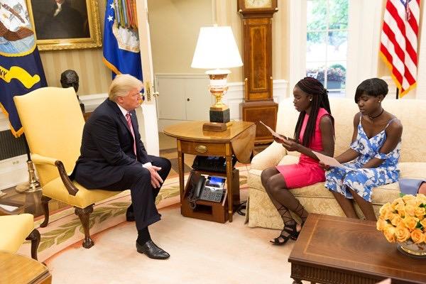 White House: Chibok schoolgirls read letter to Trump