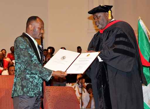 Apostle Suleman receives highest Georgian award, Doctorate degree in US