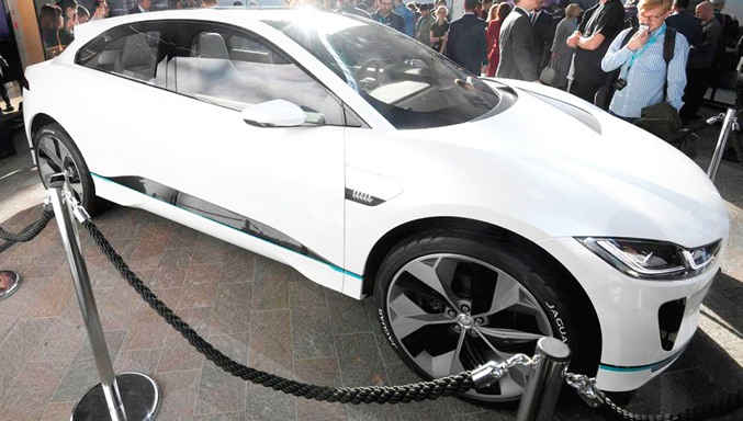All new JLR cars to have electric options from 2020