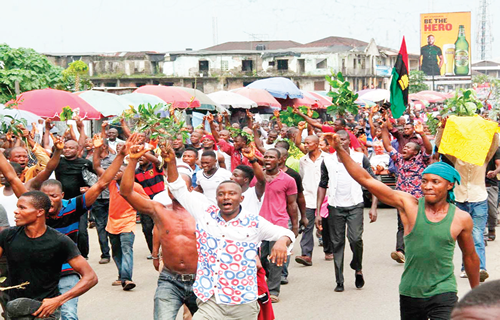 4 shot, scores arrested as IPOB women shut down Owerri