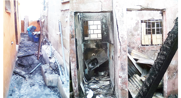 Tenant dies as fire guts two-storey building