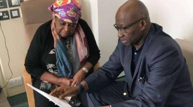 PHOTOS: SGF visits Ekwueme in UK hospital