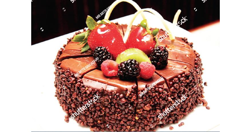 Christmas  chocolate fruit cake