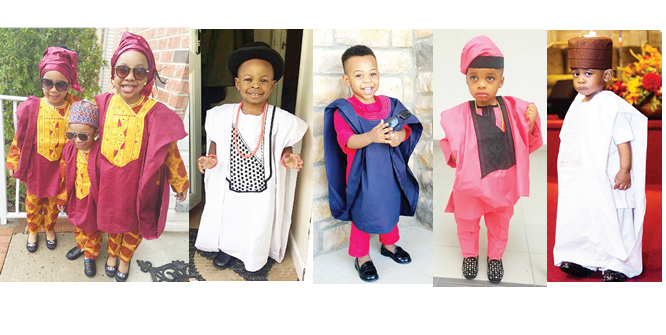 Kids look adorable in agbada