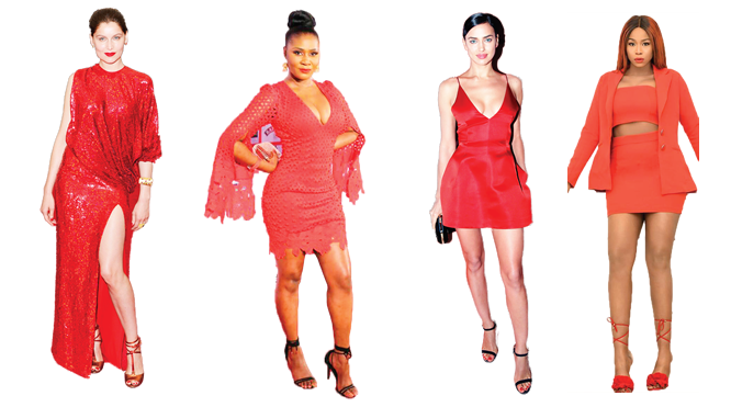 Striking in sensuous red for Valentine's Day