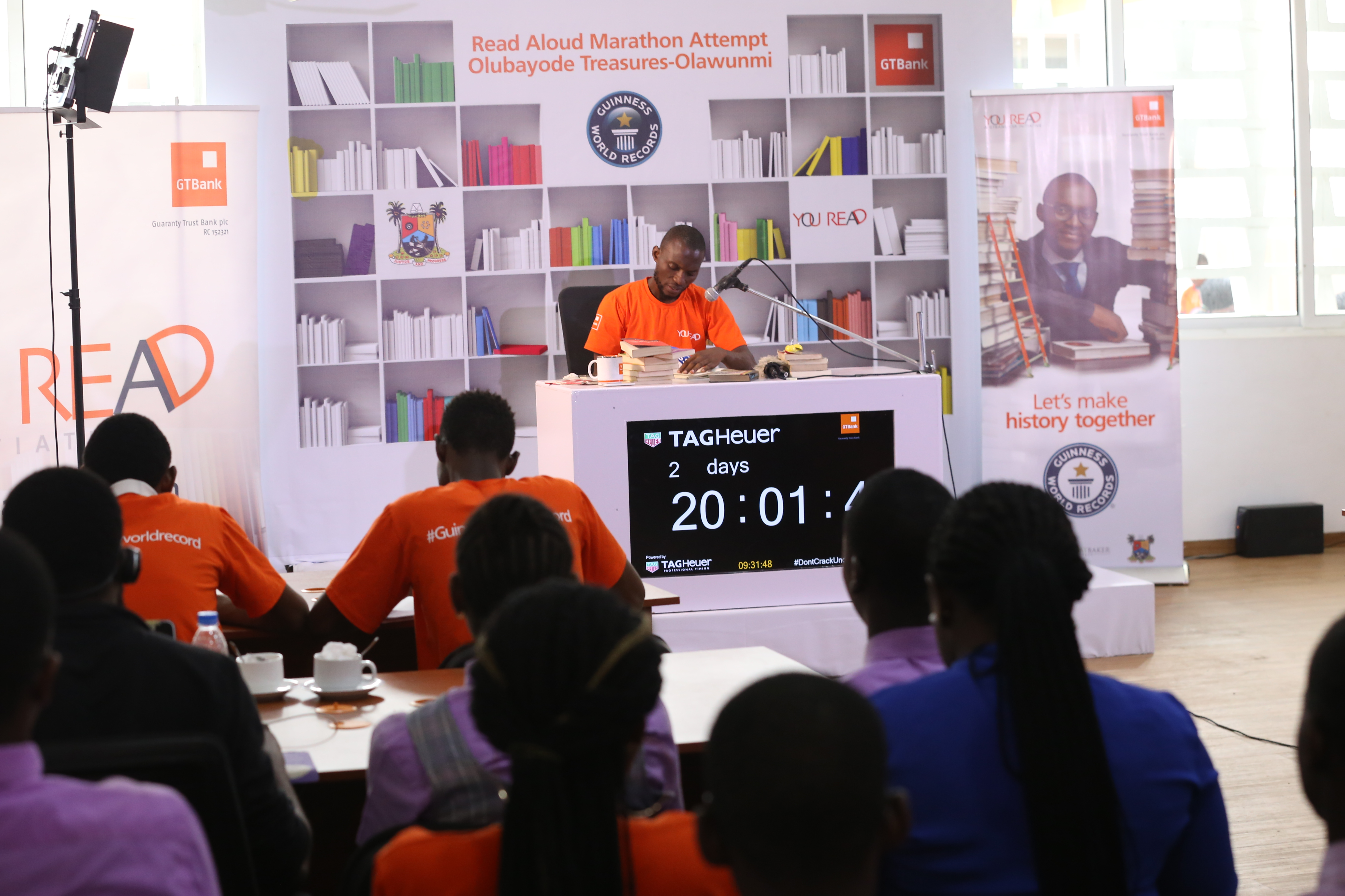 Olubayode breaks longest reading marathon record