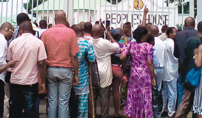 Blind protesters storm Imo Govt House