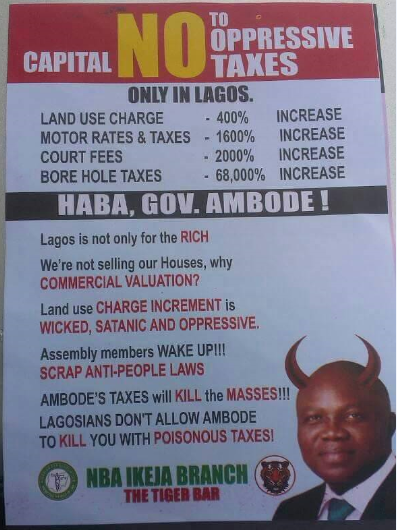 """BREAKING: NBA, others protest against """"Land use charge"""", """"Borehole tax"""" in Lagos (PHOTOS)"""