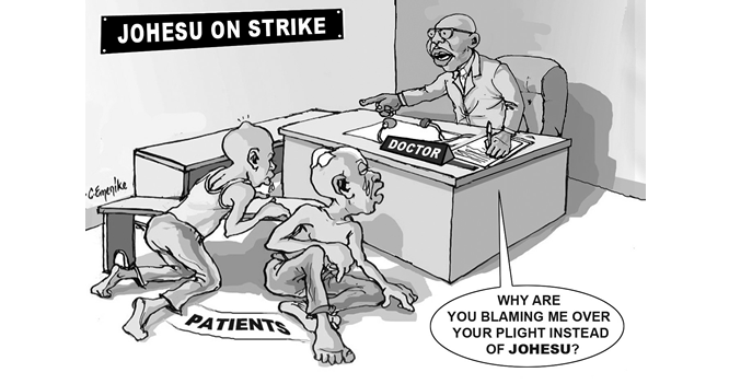 End health workers' strike now