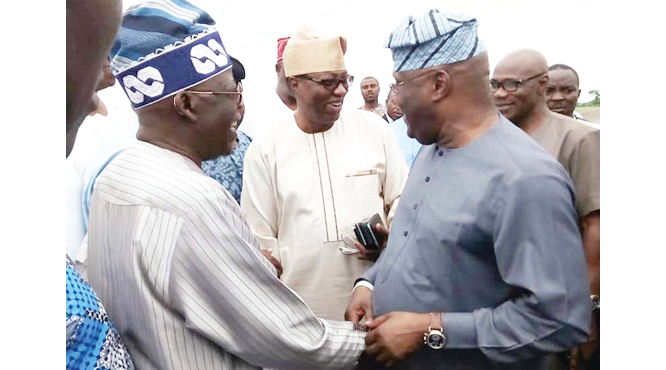 Image result for tinubu and atiku at the airport