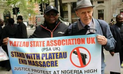 PHOTOS: Protest in London over Plateau killings
