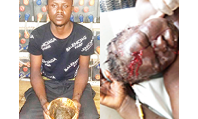 Yahoo boy smashes mother's head for money rituals