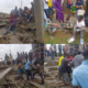 PHOTOS: 1 dead, 18 trapped as building collapses in Abuja