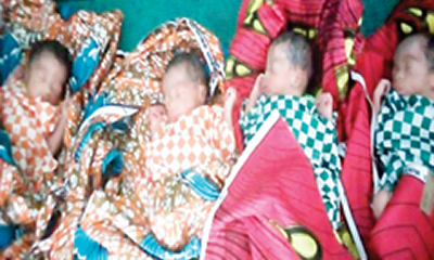 Displaced person delivers quadruplet in Zamfara