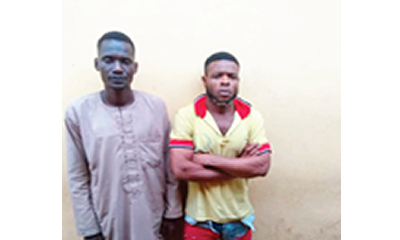Ex-convict, accomplice held for stealing truck