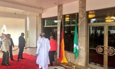 VIDEO: Buhari, Merkel meet inside Aso Rock
