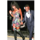 Naomi Campbell attends the GQ awards with Wizkid as date