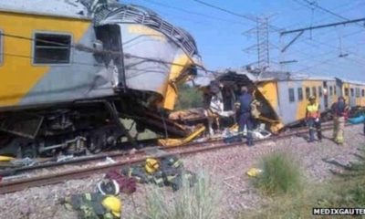 100 injured as Two trains collide