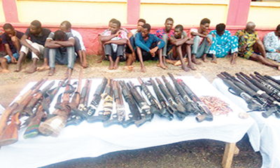 512 firearms, ammunition seized from robbers, kidnappers