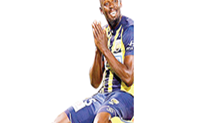 Bolt scores twice in first pro match