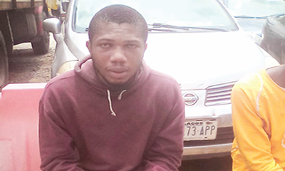 Man held for robbing Alaba traders
