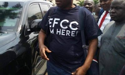 VIDEO: Fayose arrives EFCC office in company of Gov Wike